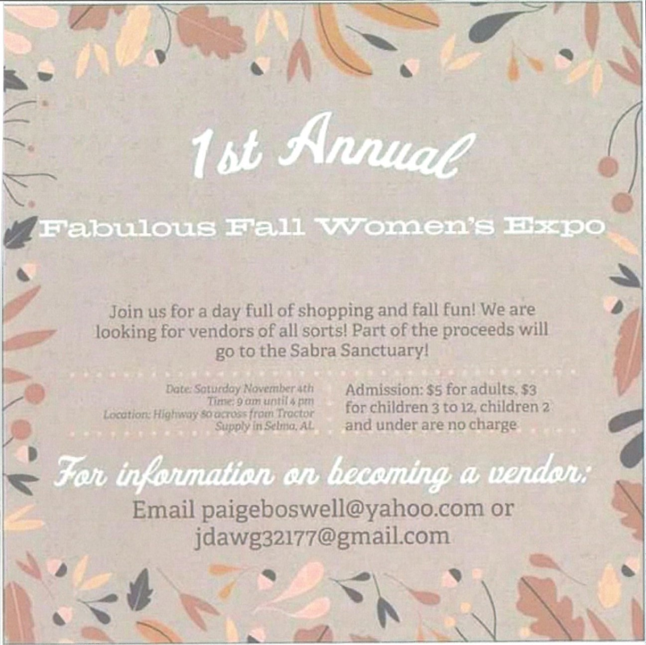 1st Annual Fabulous Fall Womens Expo