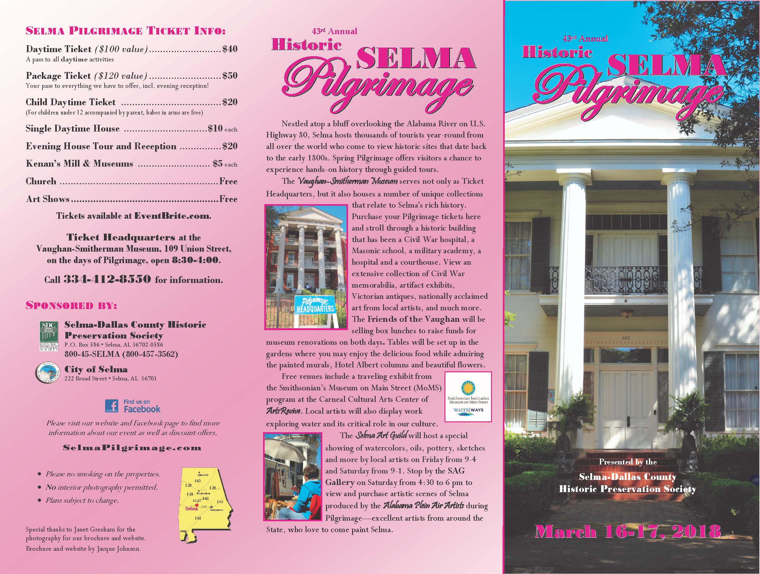 2018 Selma Pilgrimage Brochure Final Page 2