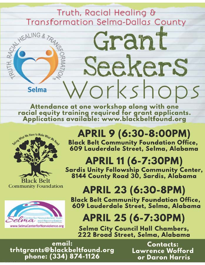 2019 04 Grant Seekers schedule