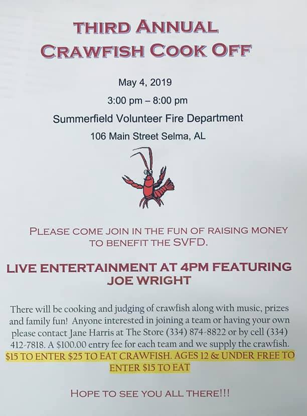 3rd Annual Crawfish CookOff