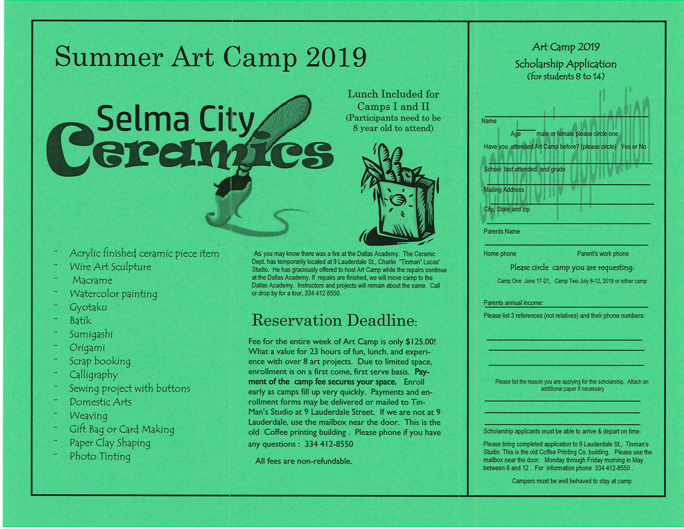 Art Camp 2019 Page 1