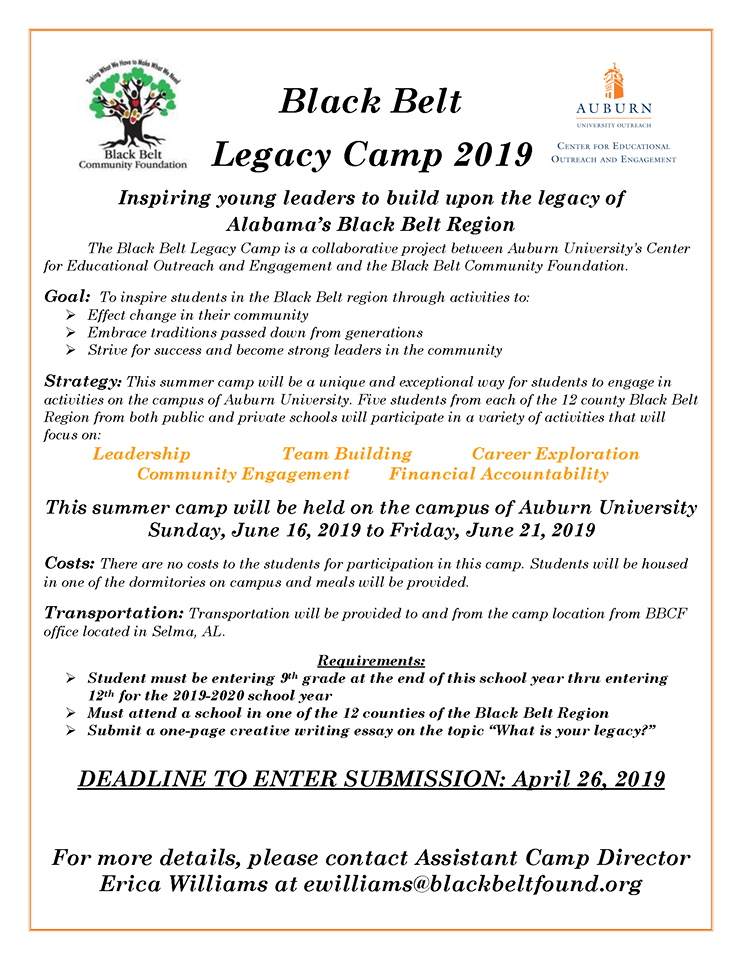 Black Belt Legacy Camp 2019