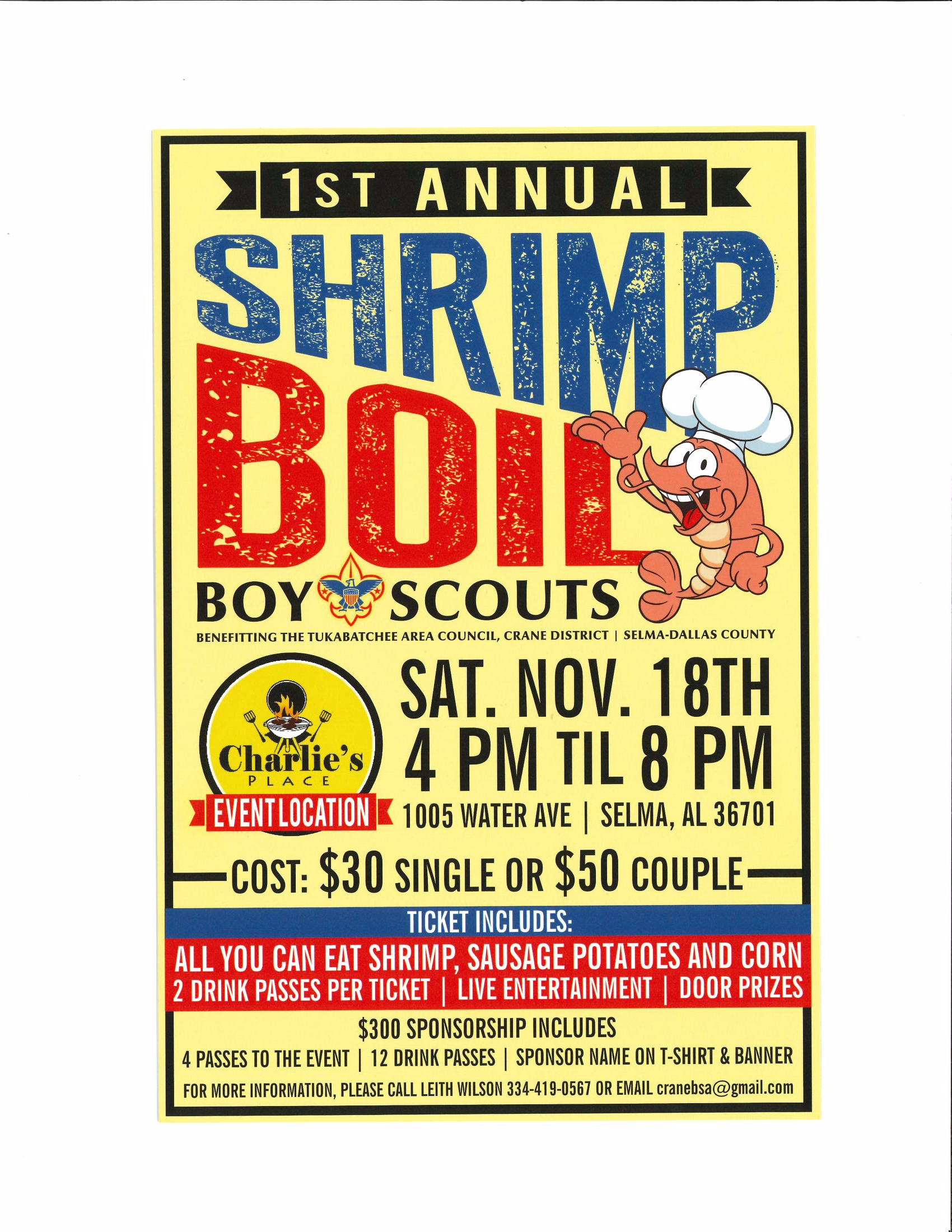 Boy Scouts Shrimp Boil