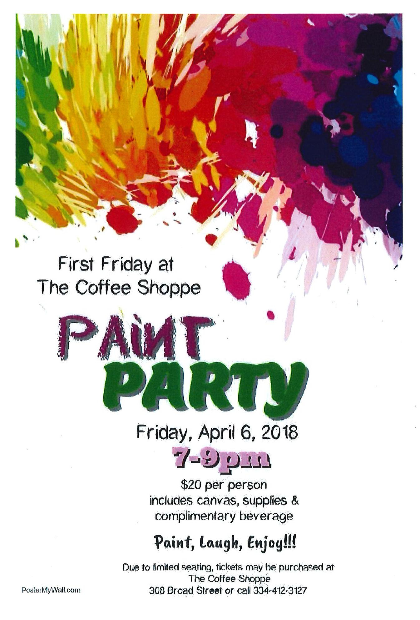 Coffee Shoppe Paint Party