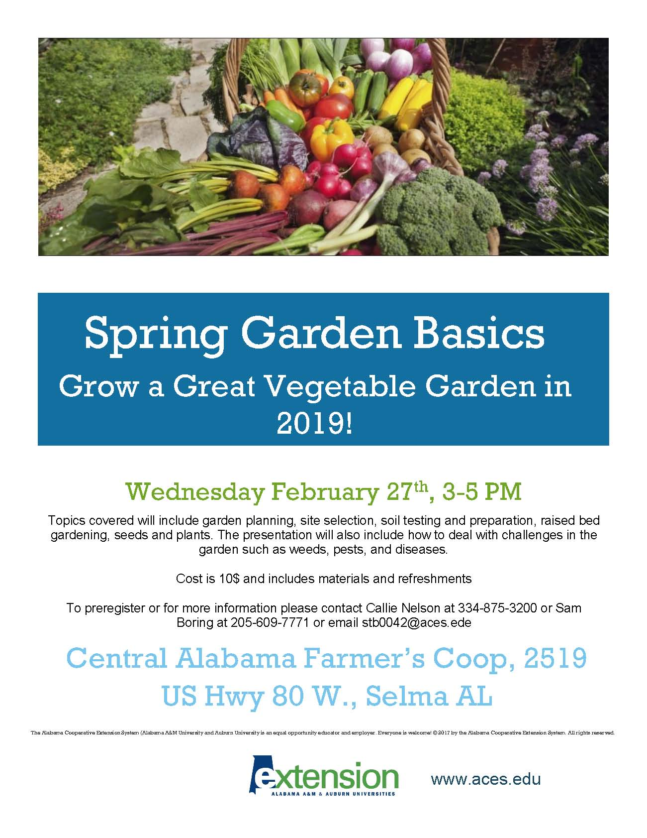 Dallas garden basics flyer2019