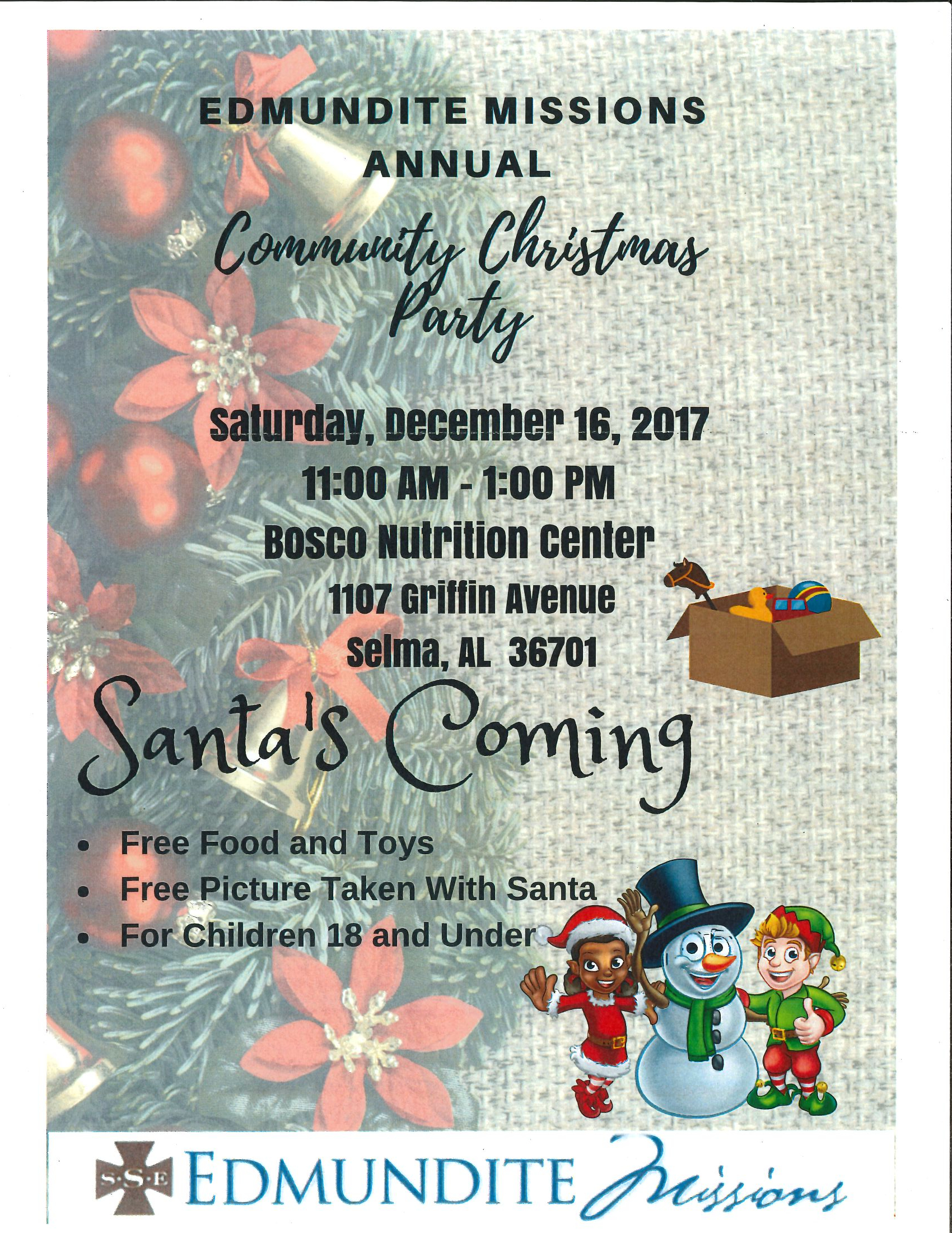 Edmundite Mission Annual Community Christmas Party