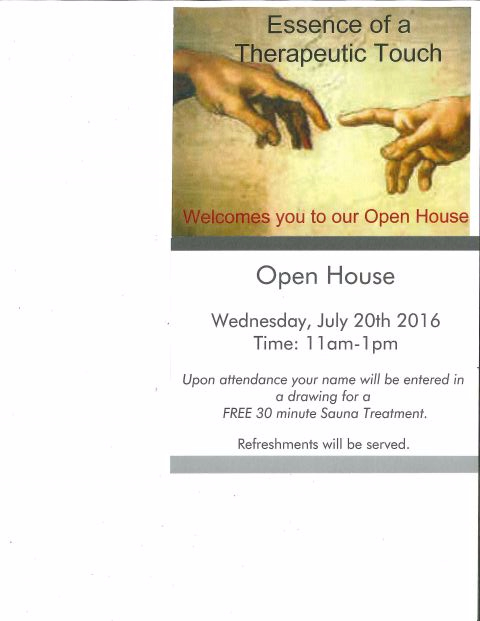 Essence of a Therapeutic Touch Open House
