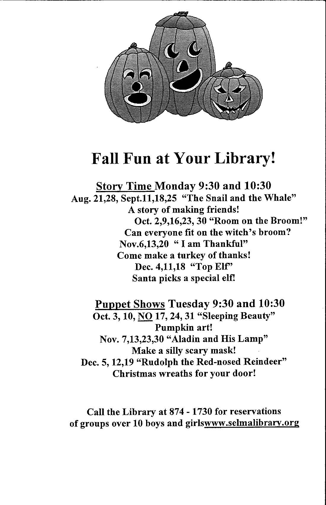 Fall Fun at your Library