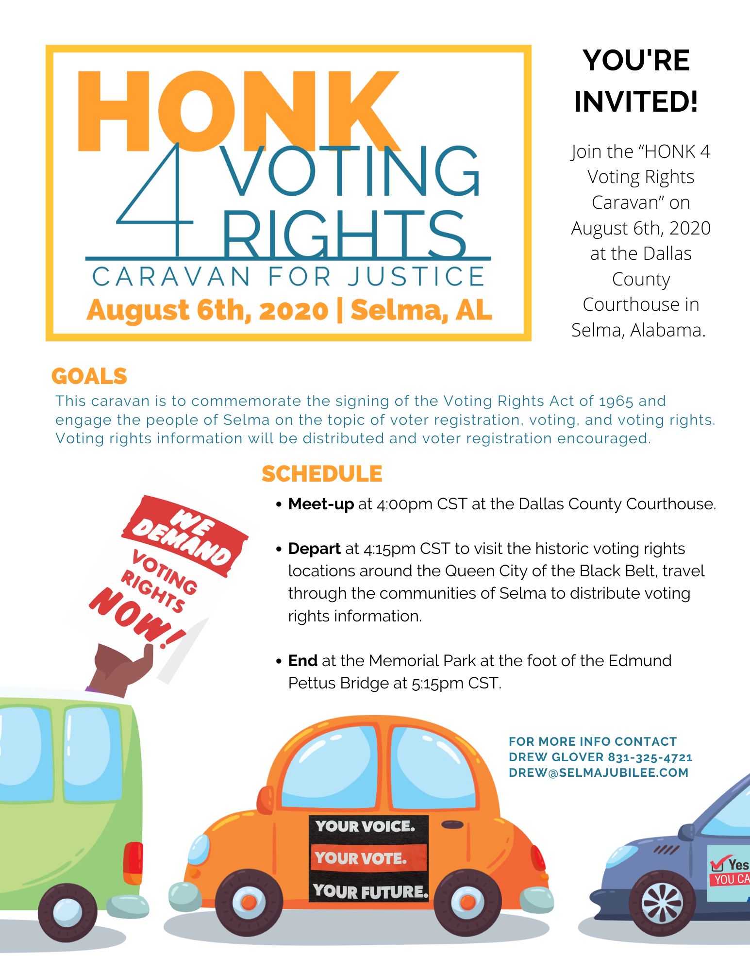 Honk for Voting Rights Invitation