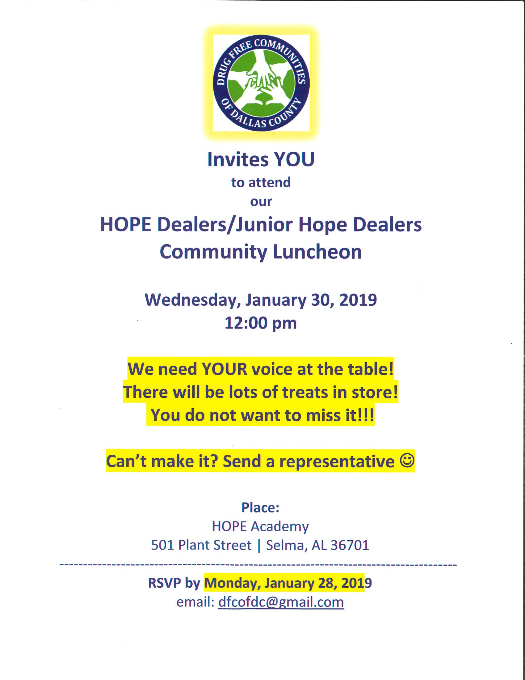 Hope Dealers Junior Hope Dealers Community Luncheon