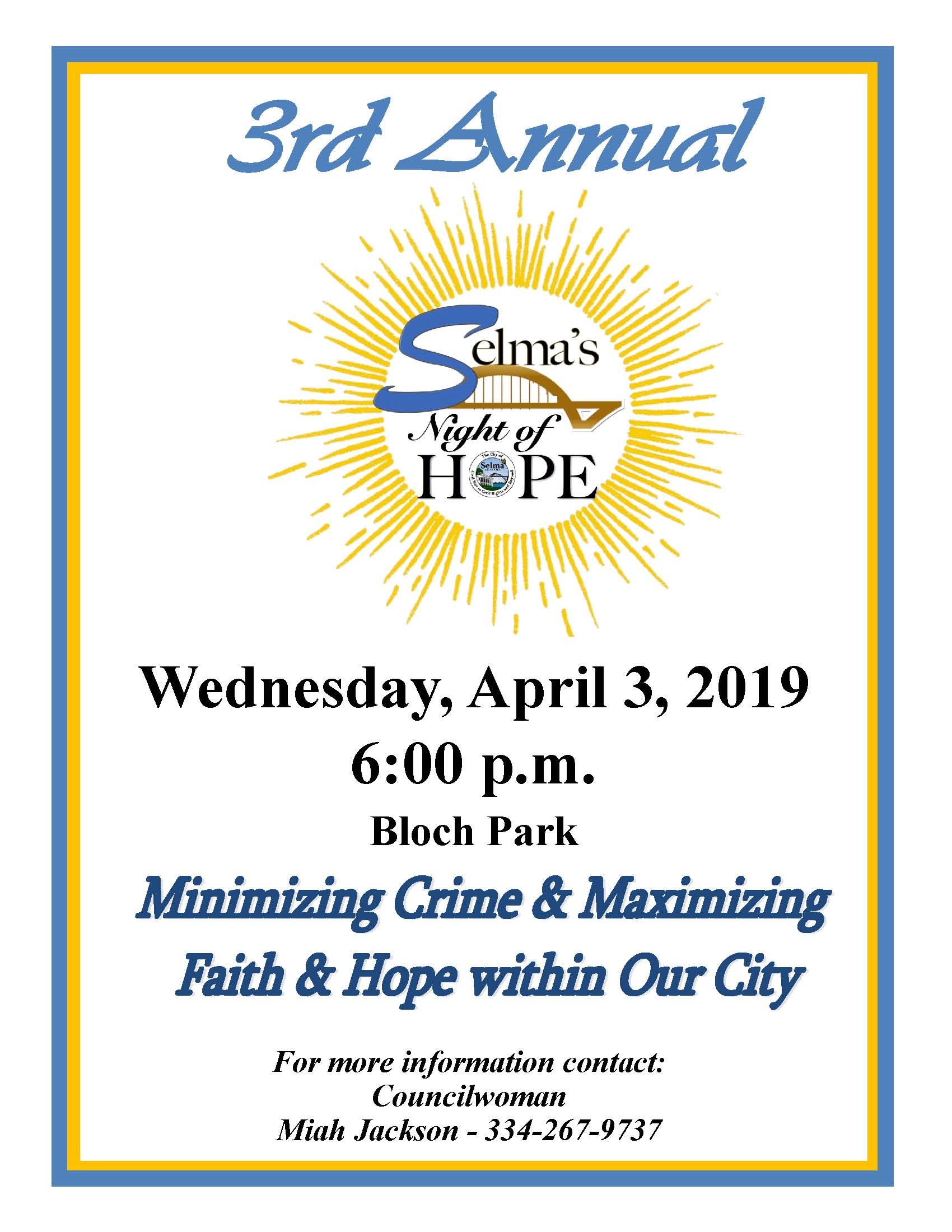 Jackson Selmas Night of Hope Flyer 2019