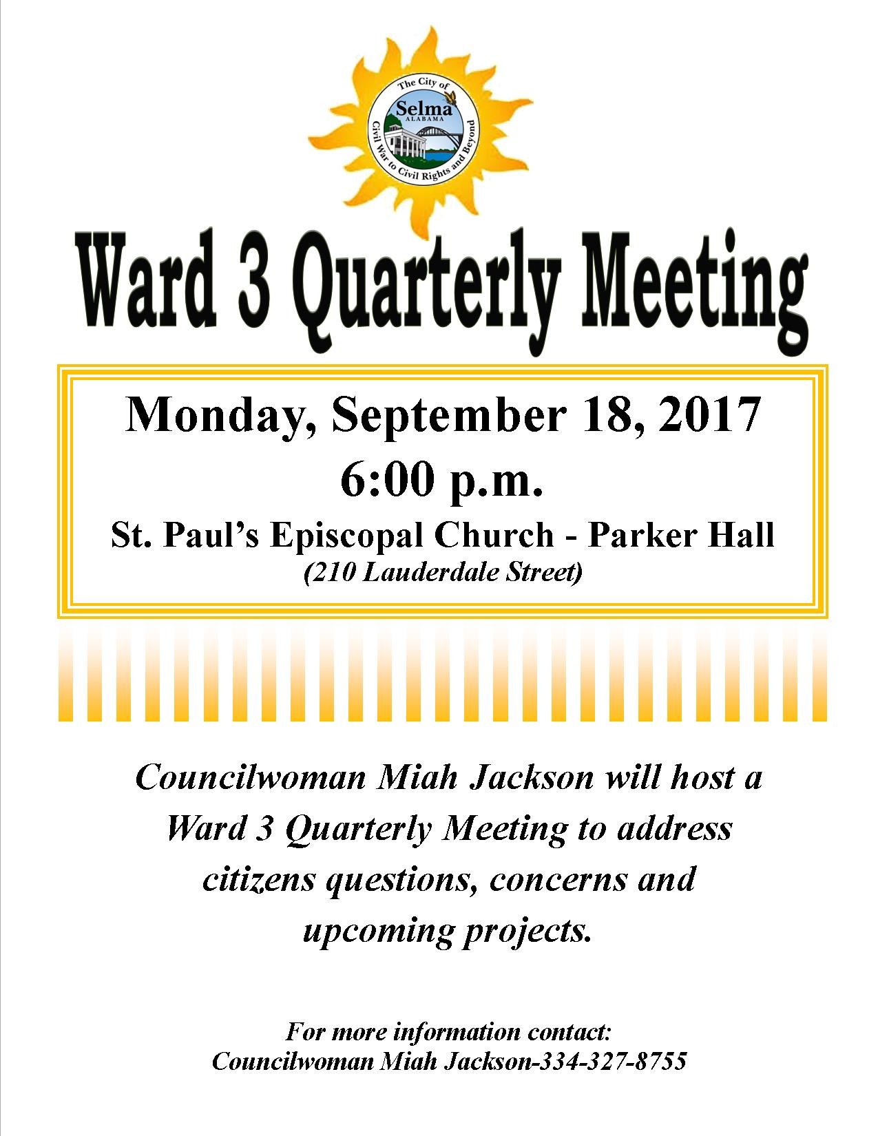 Jackson Ward 3 Meeting Flyer 9.18.17