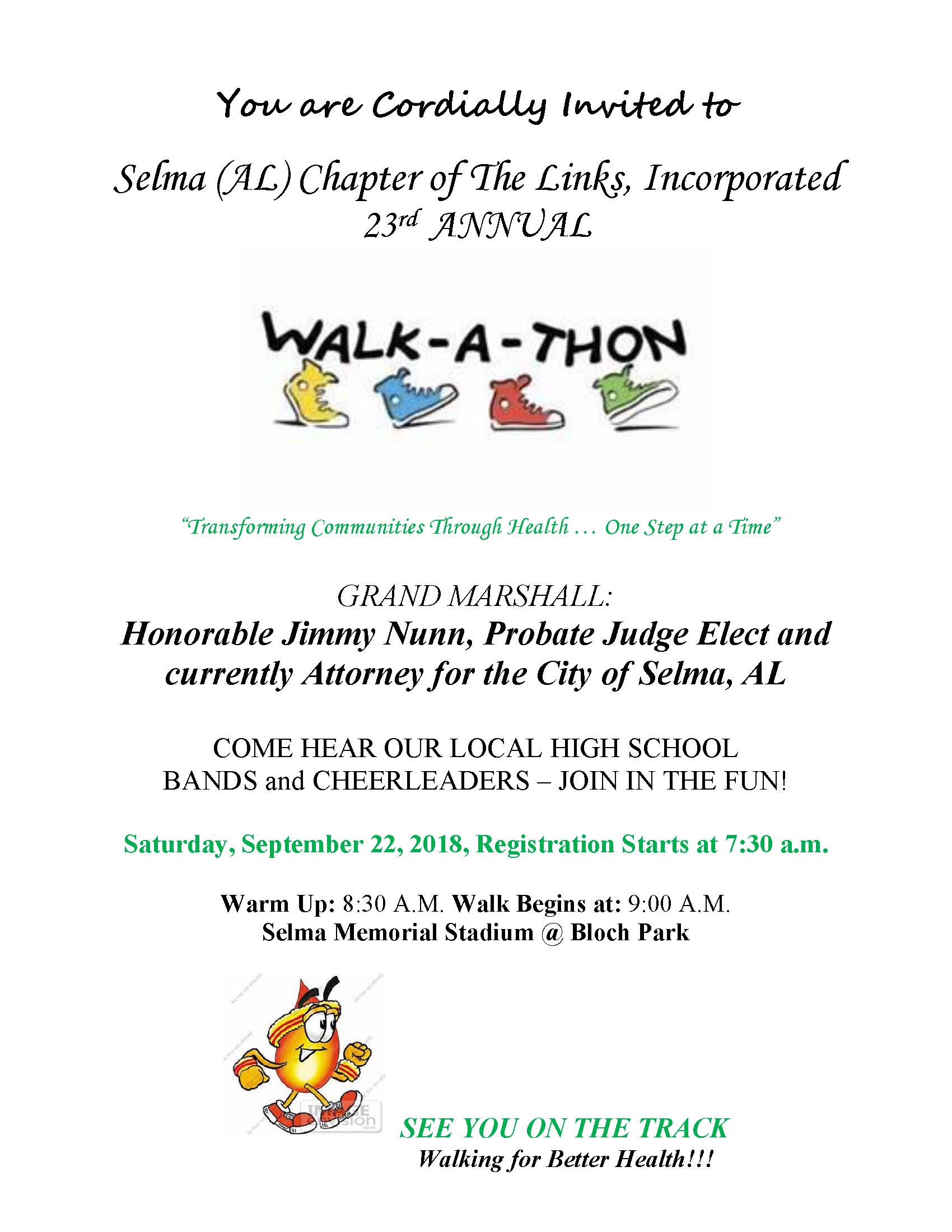 Links Walk a Thon Flyer 092018