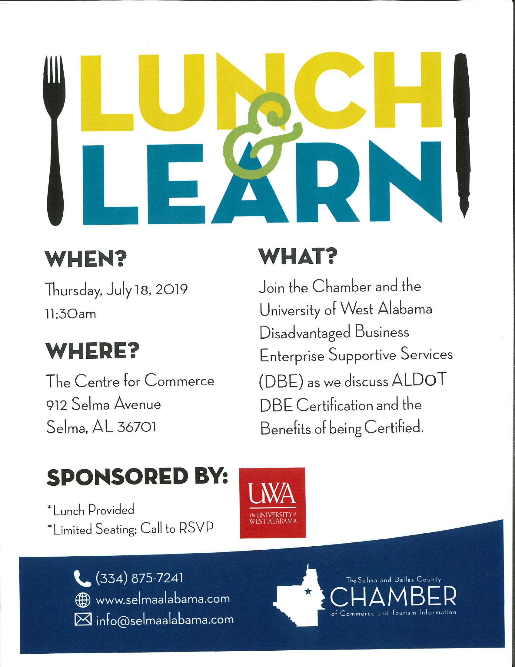 Lunch and Learn June DBE