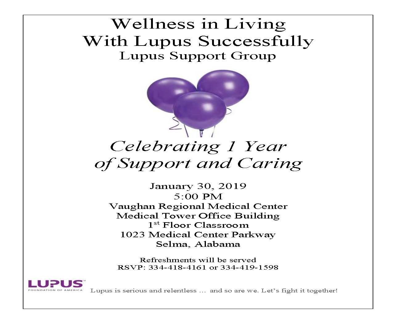Lupus Flyer for January 2019 2
