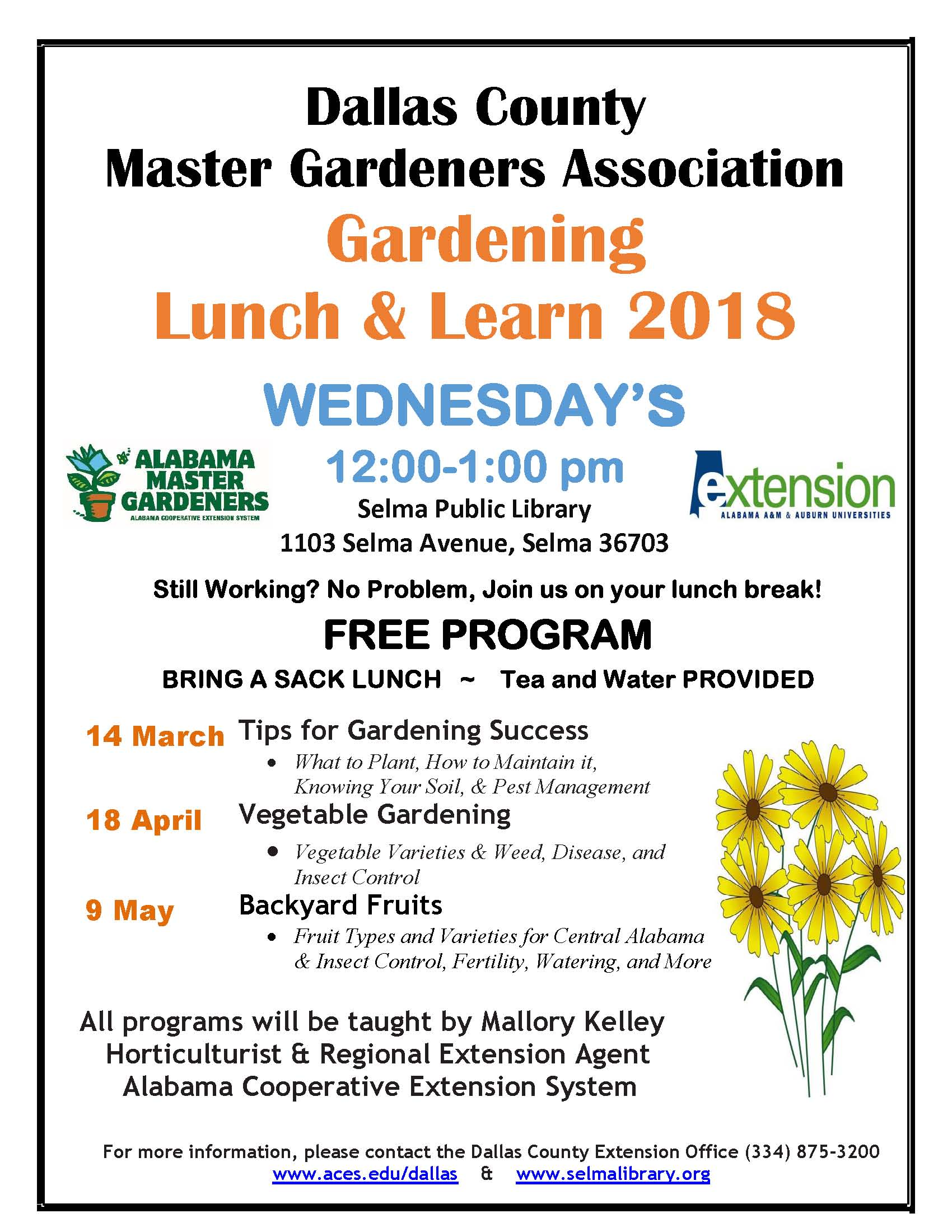 Master Gardener 2018 Dallas LL Full Page Flyer