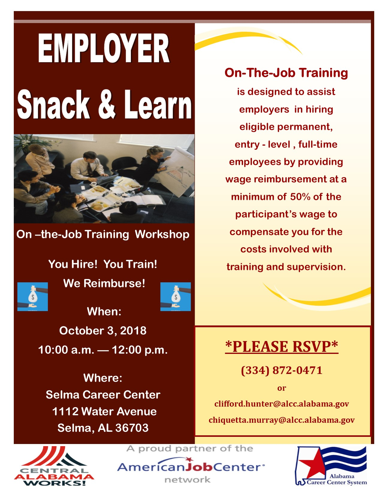 OJT Workshop Flyer Snack