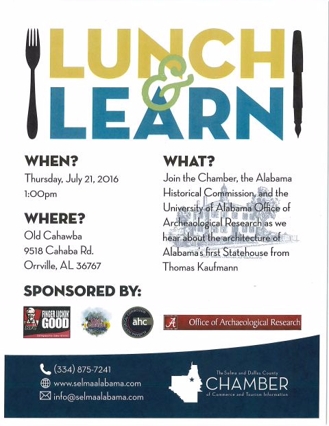 Old Cahawba Lunch and Learn