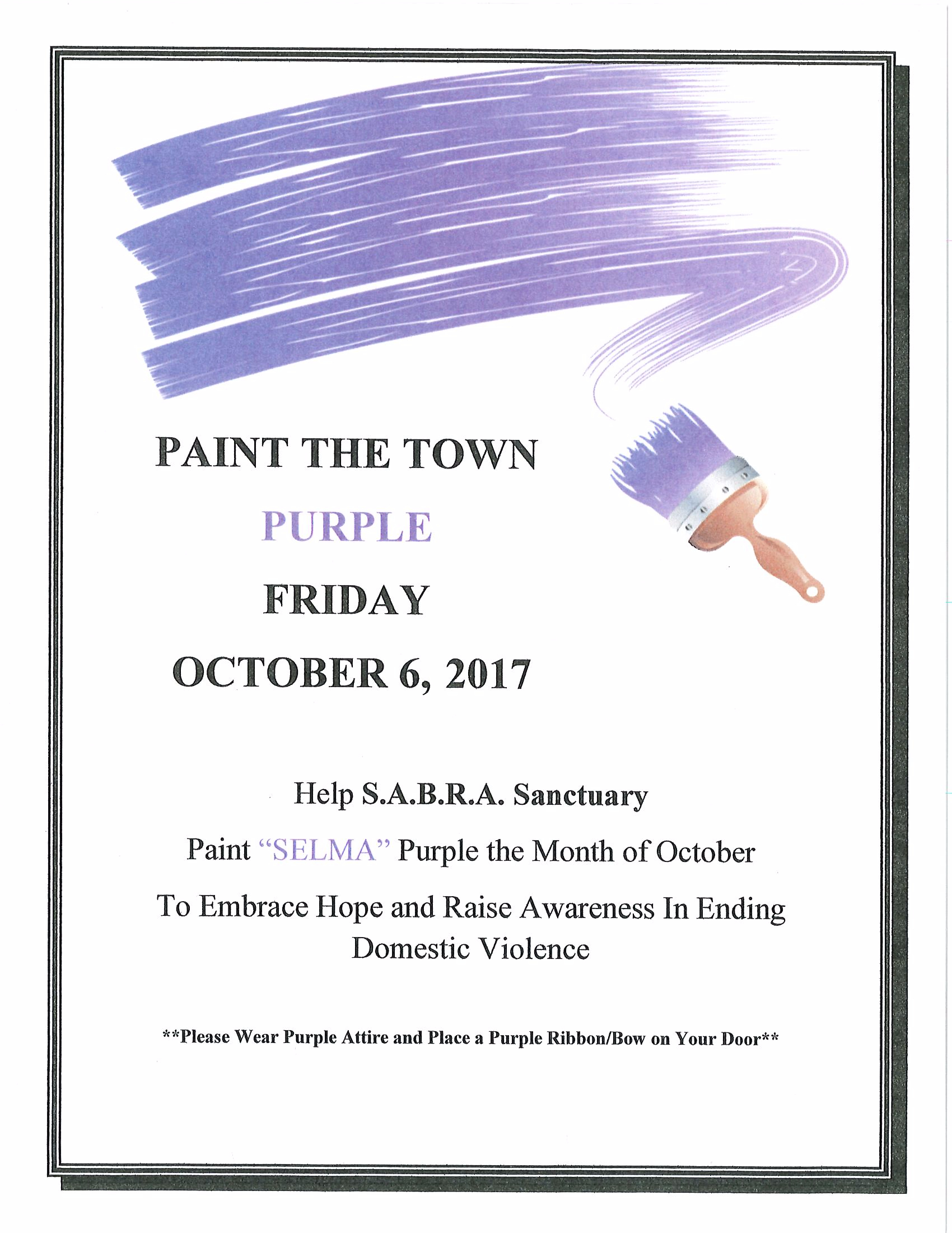Paint the Town Purple