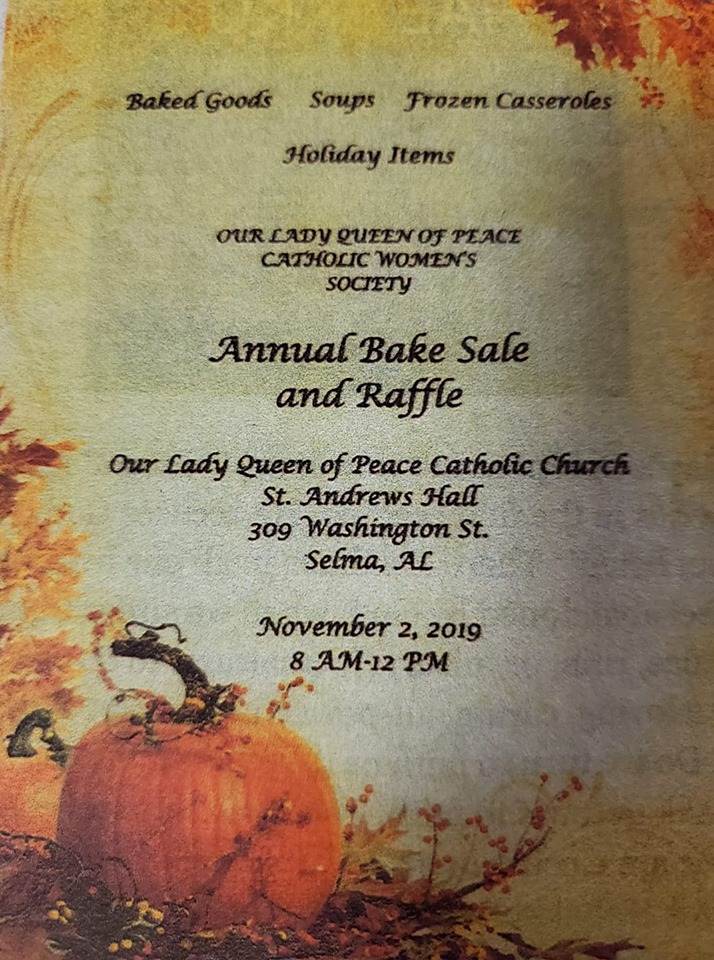 QUeen of Peace Raffle Sale