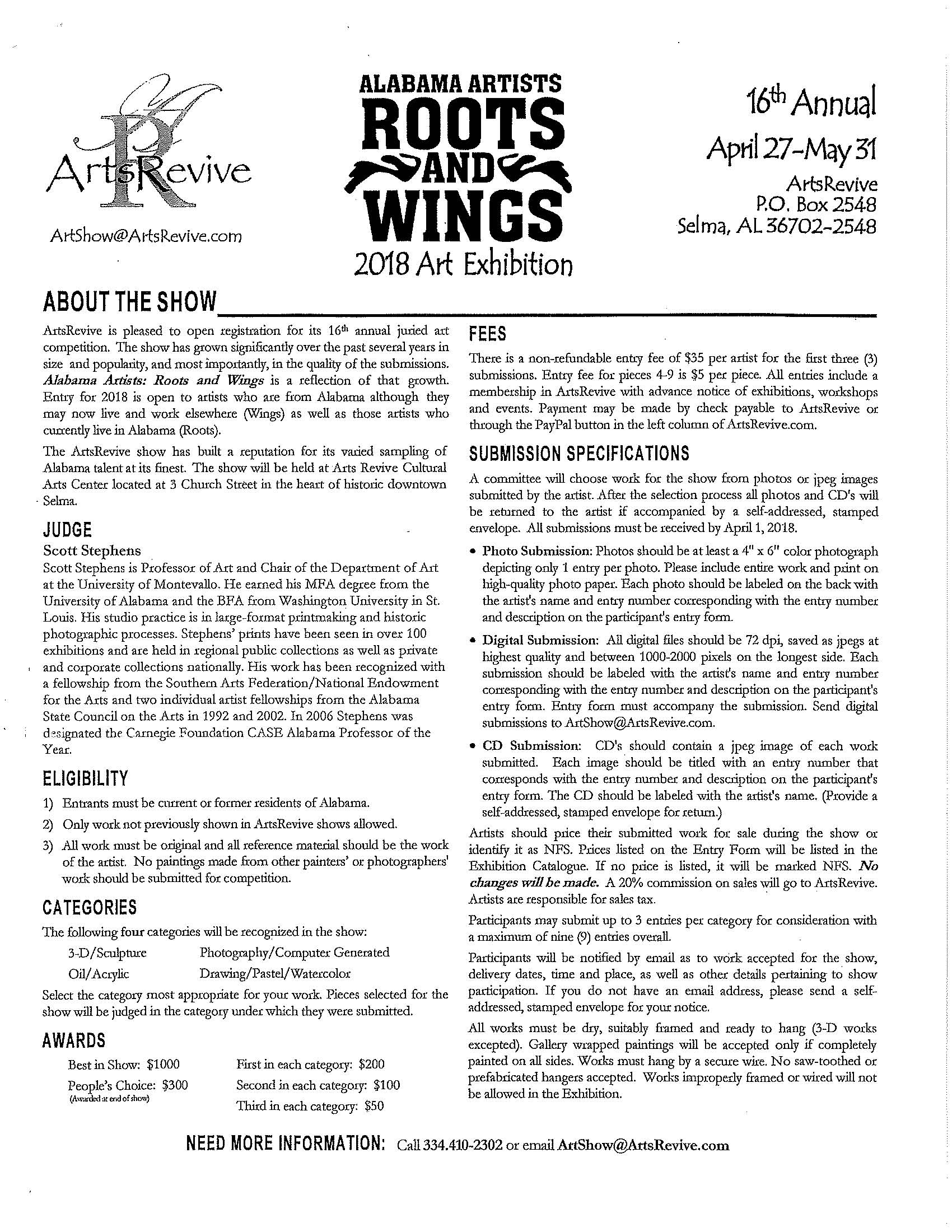 Roots and Wings Art Exhibition Page 2