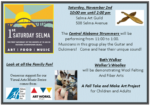 Selma Art Guild 1st Saturday November