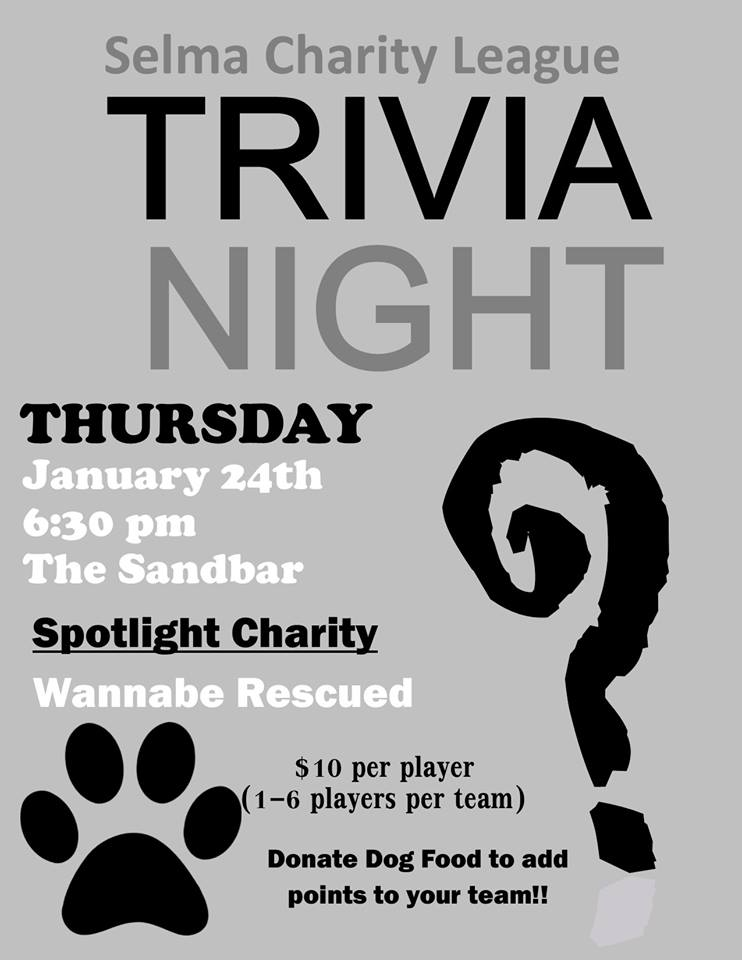 Selma Charity League trivia Night