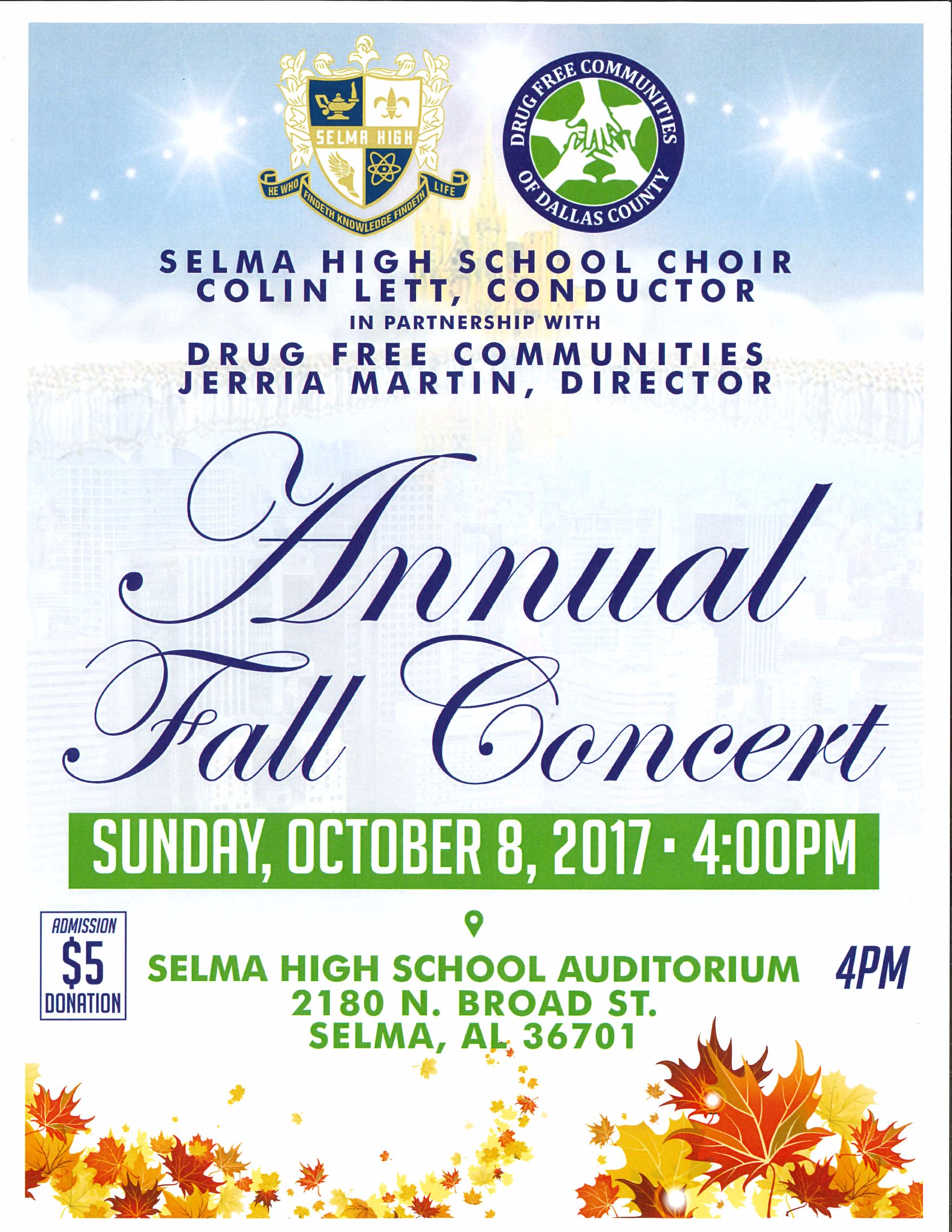 Selma High Choir Annual Fall Concert