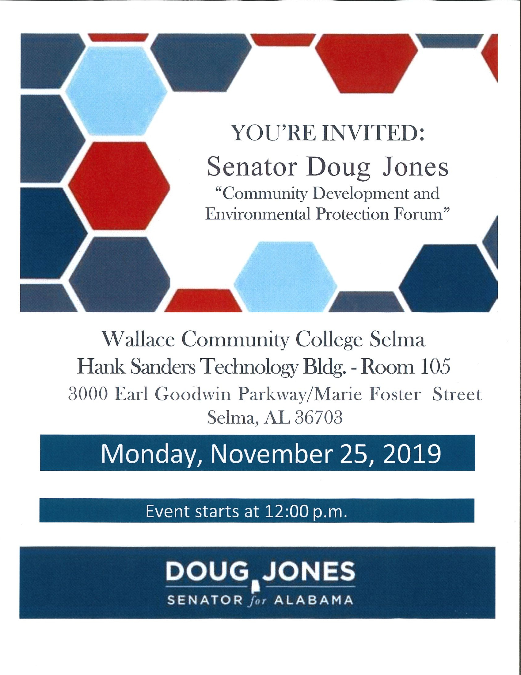 Senator Doug Jones Meeting November