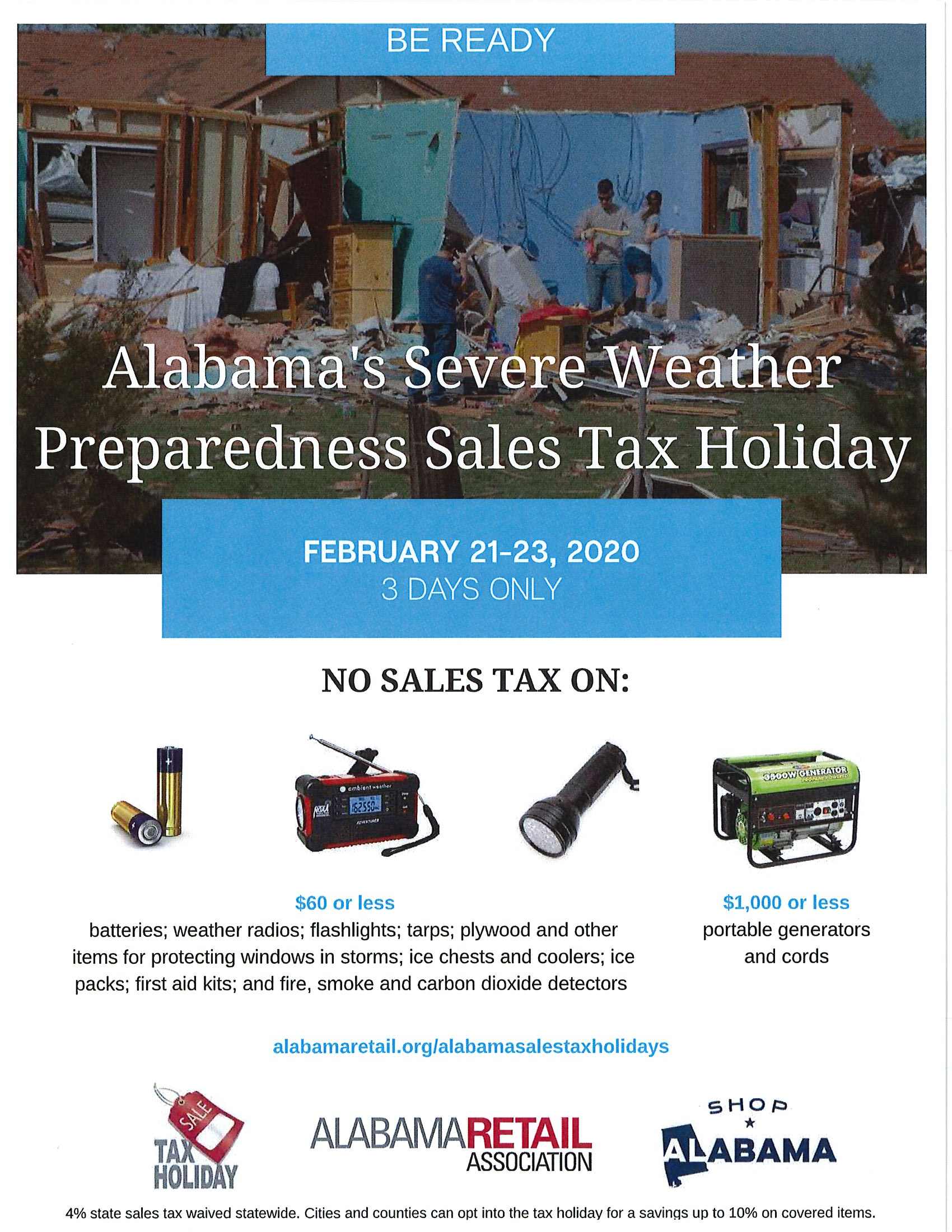 Severe Weather Sales Tax Holiday 1