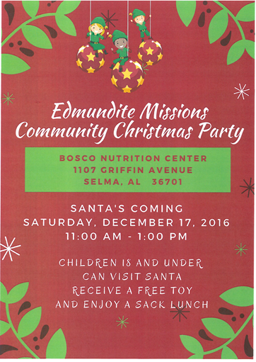 Edmundite Missions Christmas Party