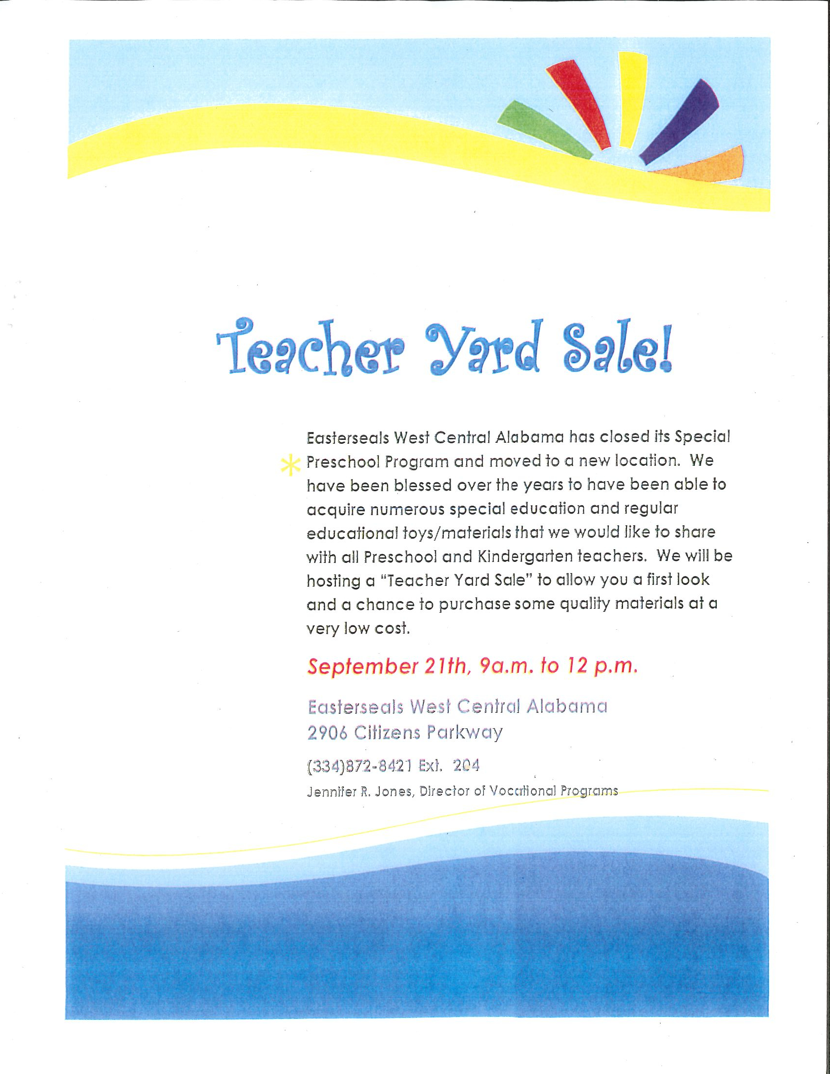 Teacher Yard sale