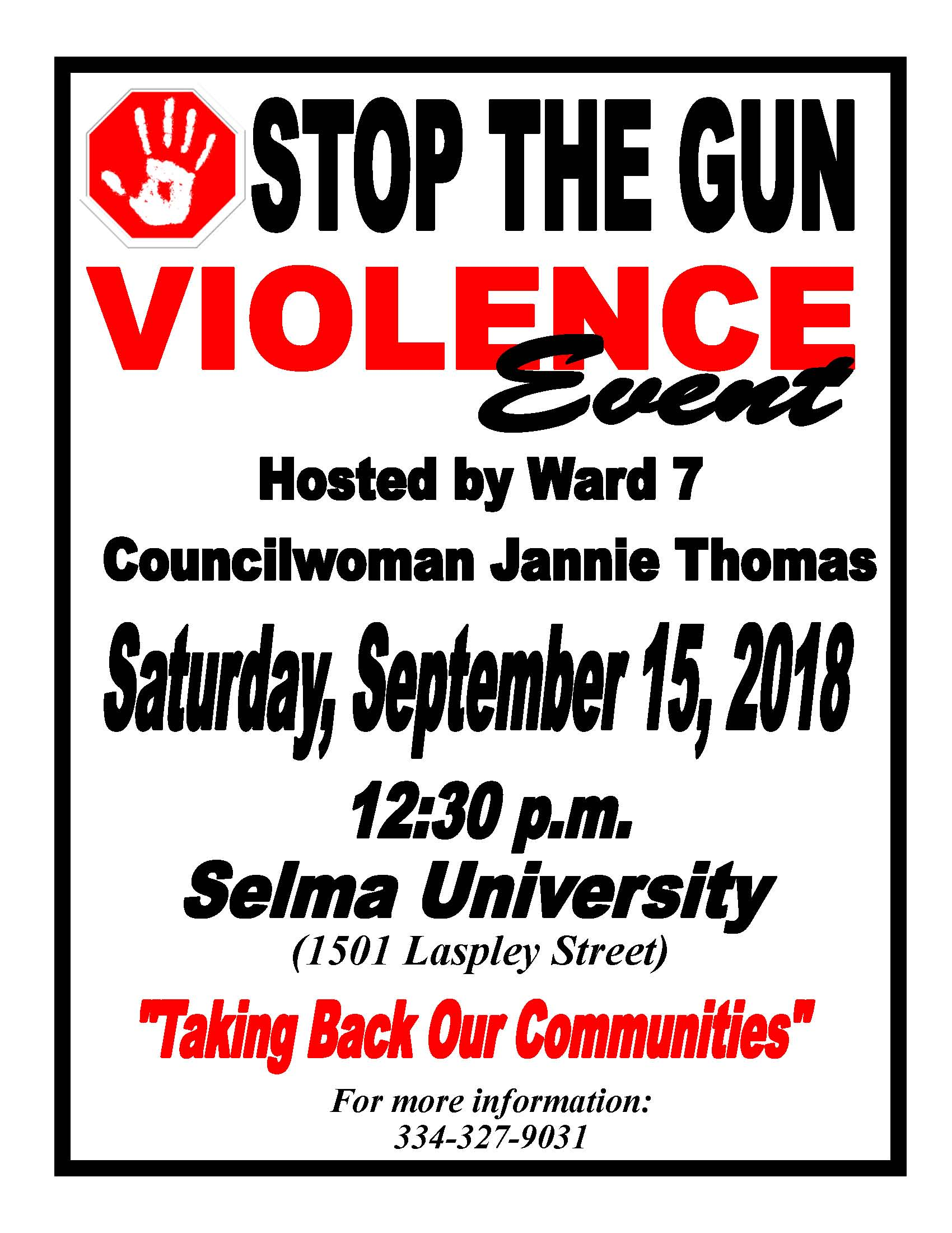 Thomas Stop The Violence Event