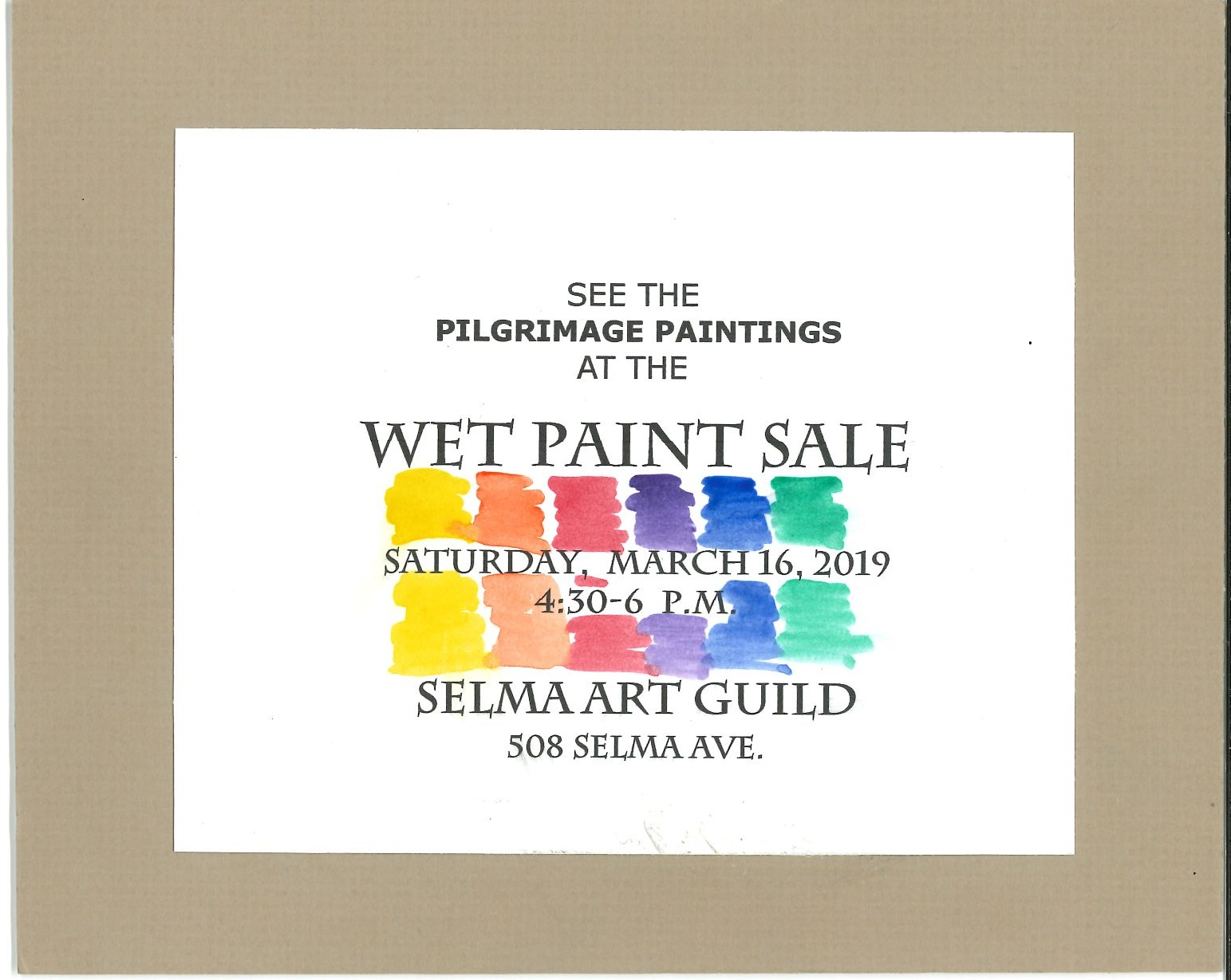 Wet Paint Sale