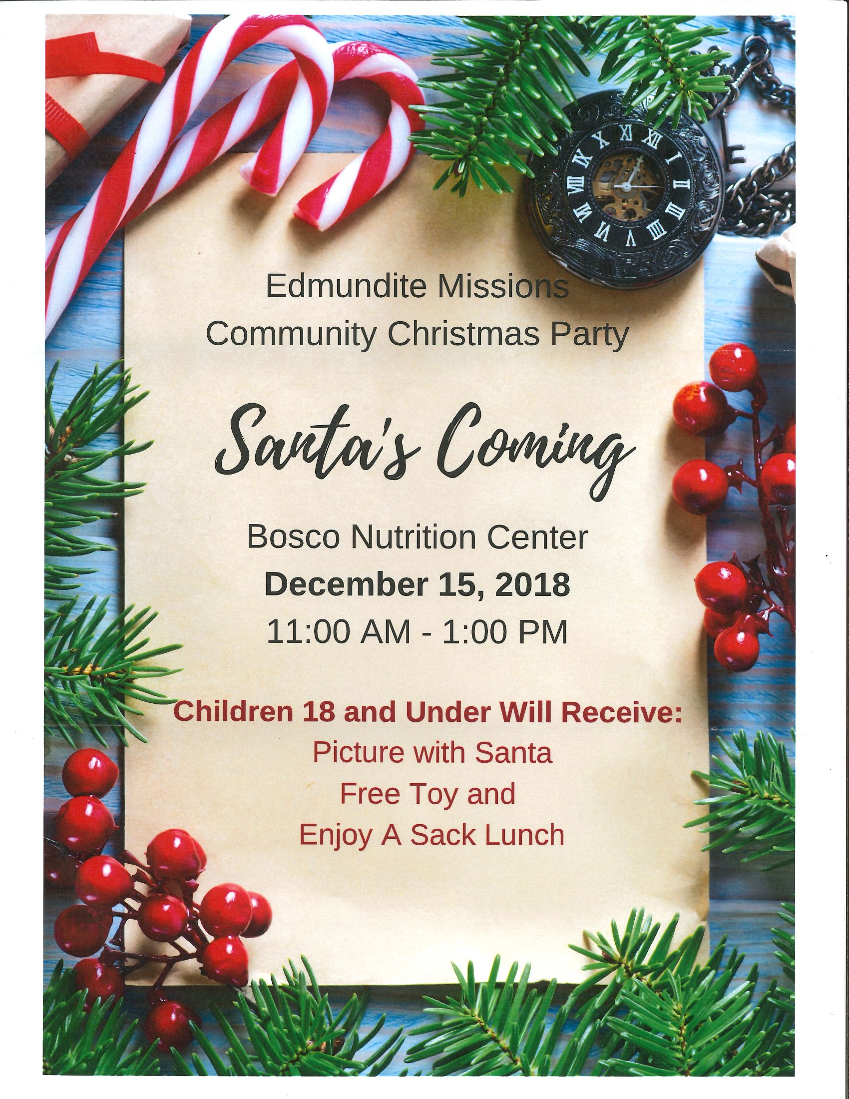 Edmunidte Community Christmas Party