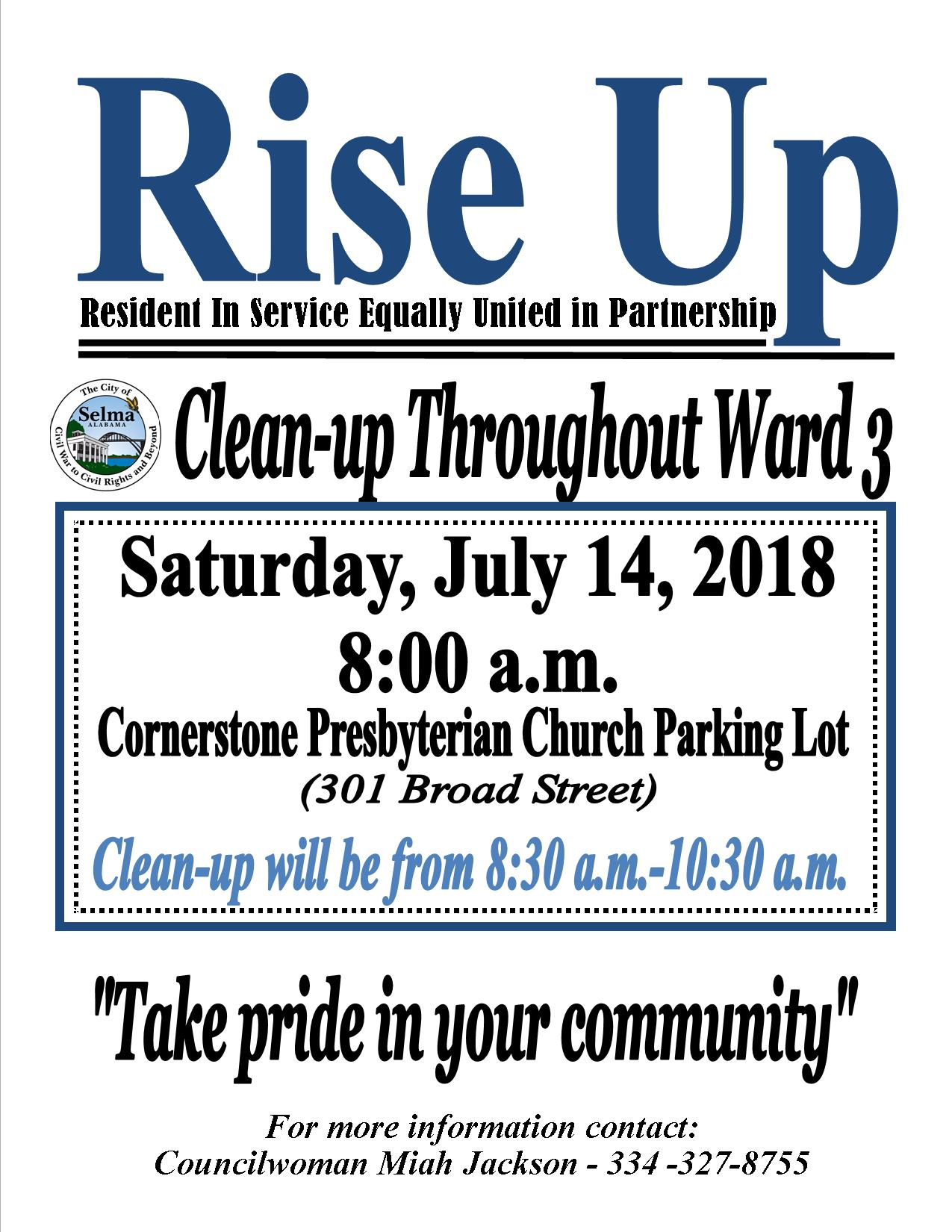 Jackson Rise Up Clean up Flyer