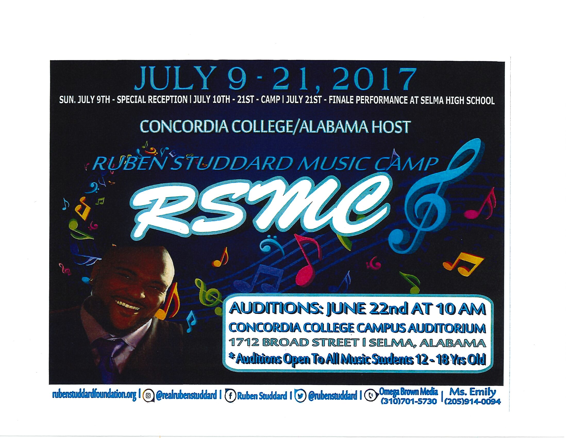 Ruben Studdard Music Camp