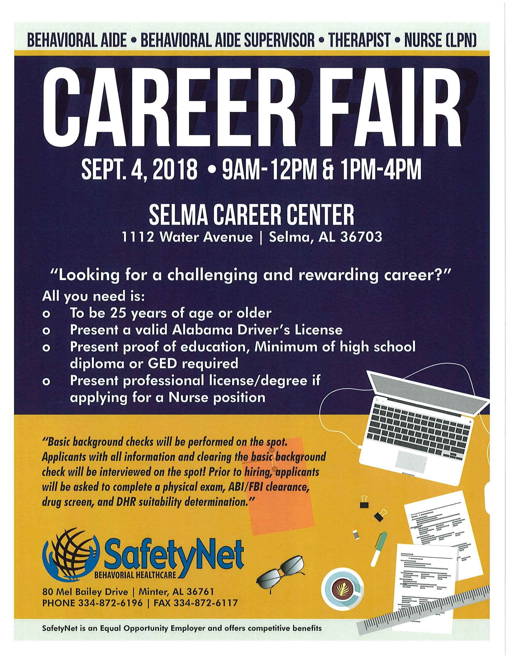 SafetyNet Career Fair
