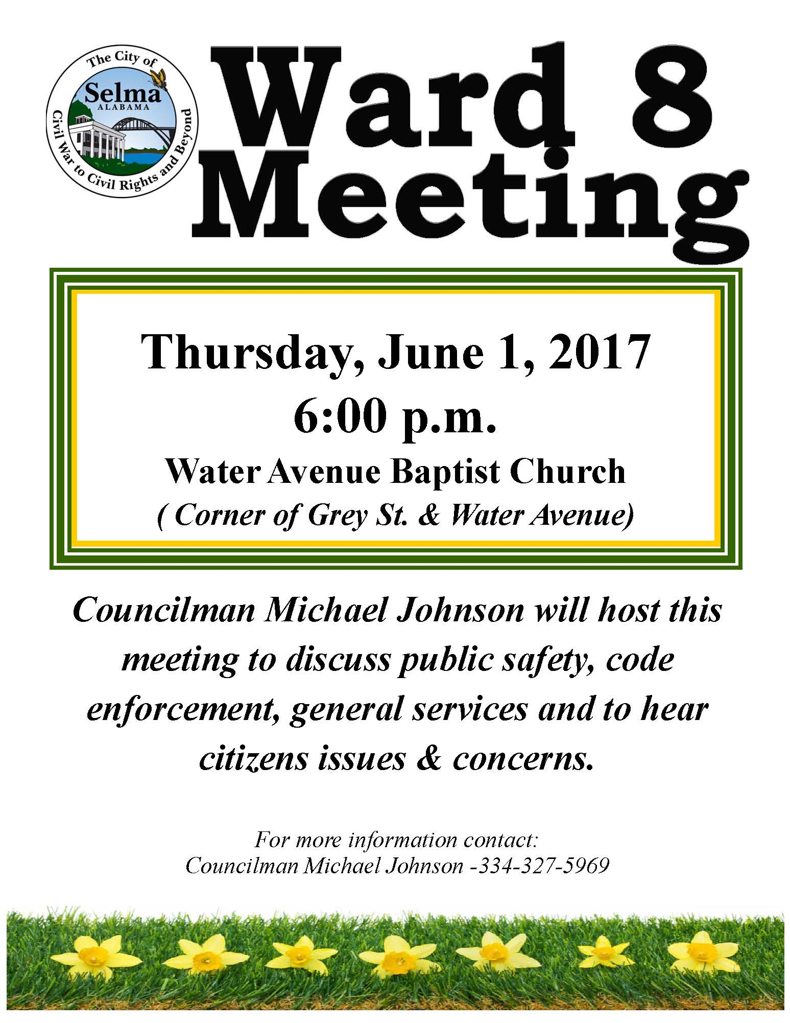 Johnson Ward 8 Meeting Flyer 6.1.17