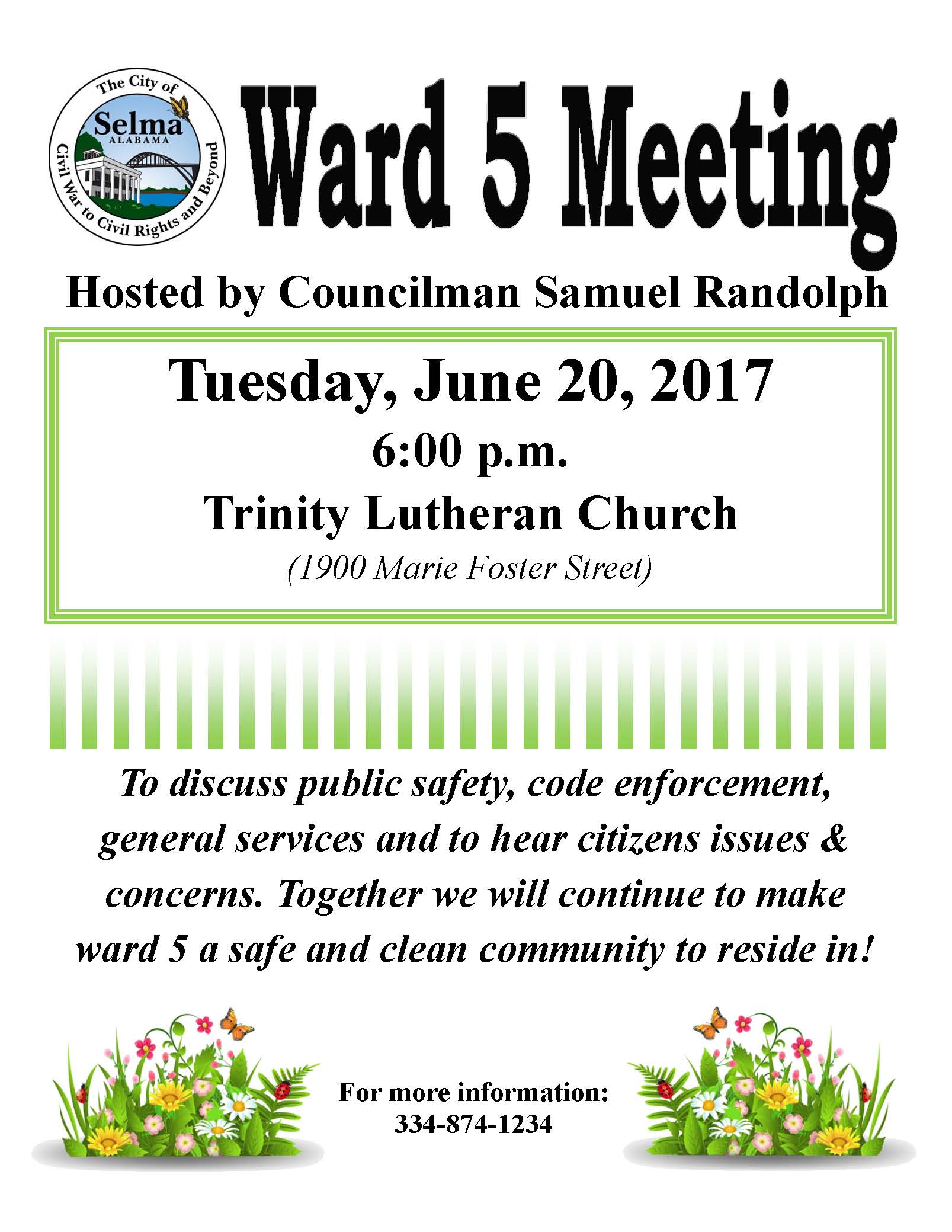 Randolph Ward 5 Meeting Flyer 6.20.17